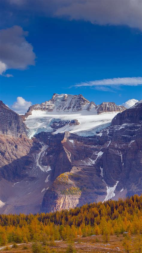 Snow from Canada Banff National Park Android wallpaper
