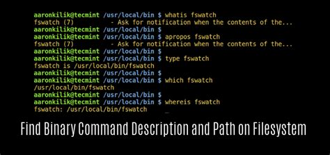 5 Ways to Find a 'Binary Command' Description and Location