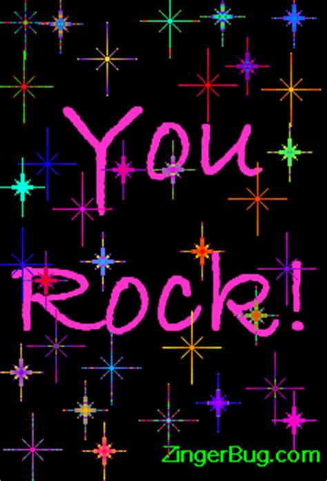 You rock colorful stars Glitter Graphic, Greeting, Comment