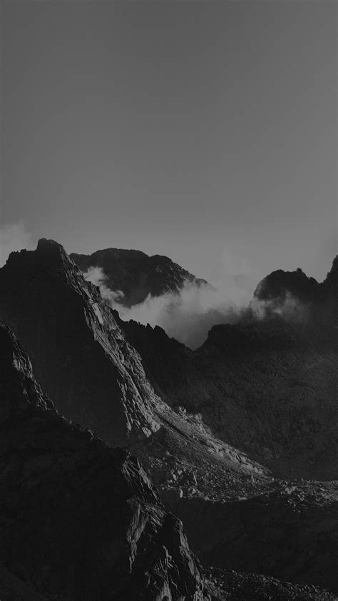 Breath Taking Mountains Bw Sky High Nature Android