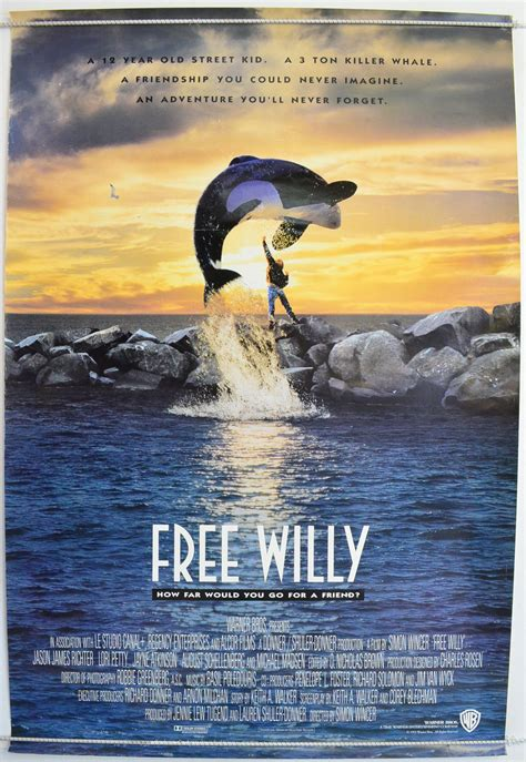 Free Willy - Original Cinema Movie Poster From pastposters