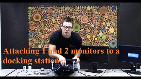 Attaching 1 and 2 monitors to a docking station - YouTube