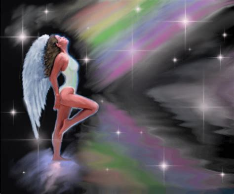 Angel With Rainbow Background Image, Wallpaper or Texture