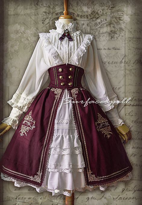 Surface Spell -Unfinished Book- Vintage High Waist Lolita