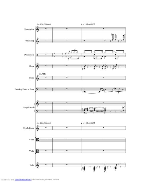 Clair music sheet and notes by Gilbert O Sullivan