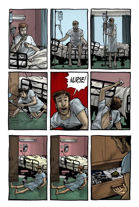 The first few pages of The Walking Dead comic