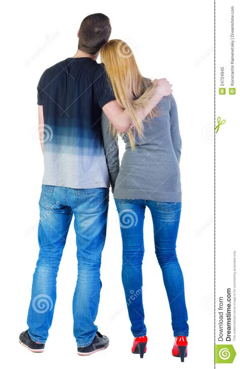 Back View Of Young Couple Royalty Free Stock Photo - Image