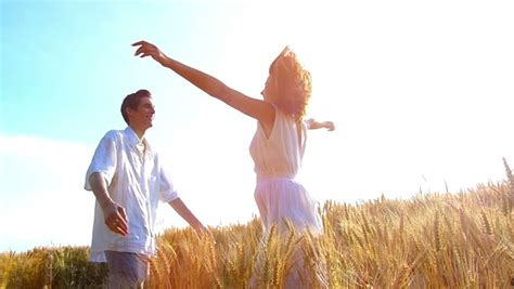 Young ,happy Woman Run Into Stock Footage Video (100%